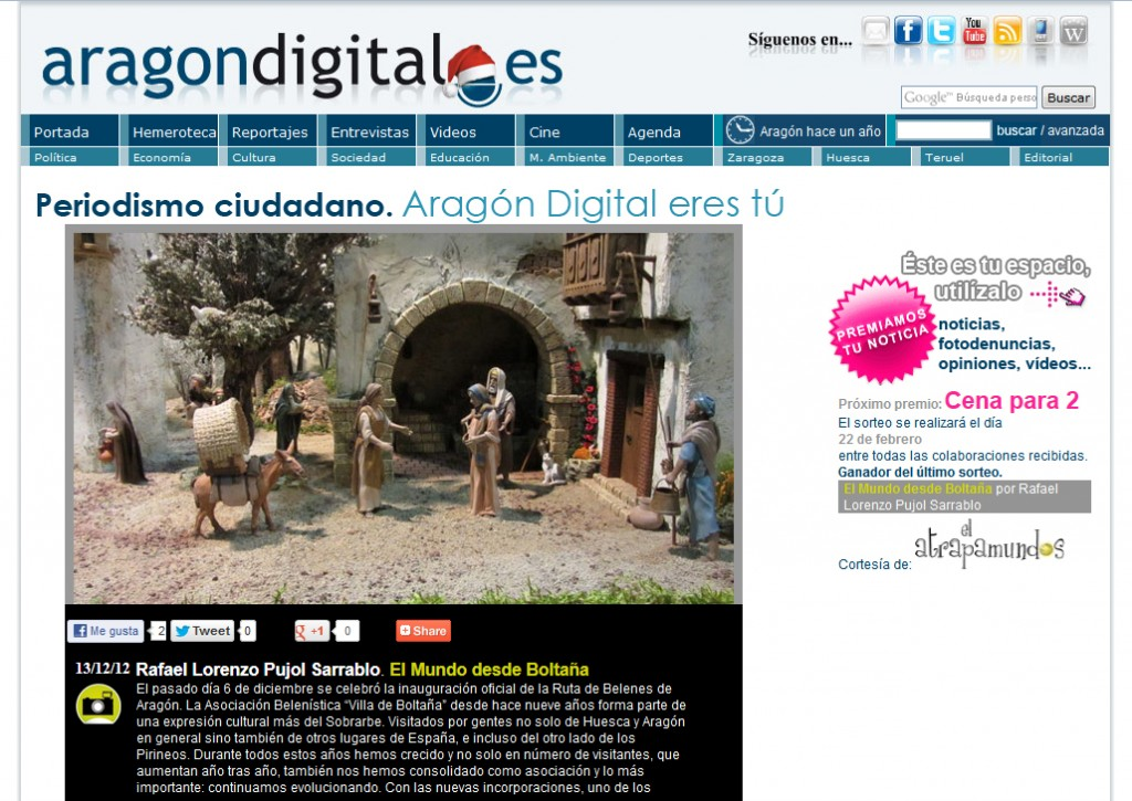 El Belén de Boltaña en Aragón Digital